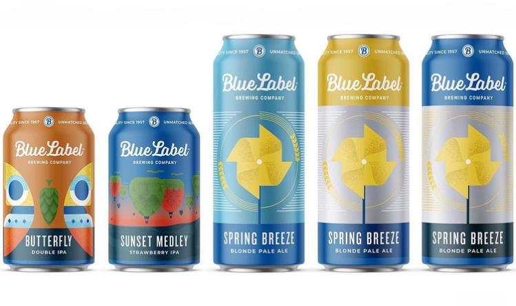 Spring Breeze Blue Label Beer Labels