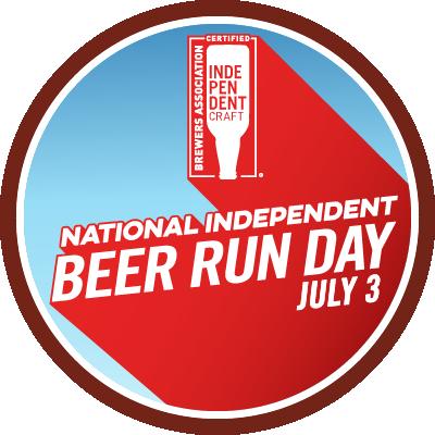 Brewers Association National Indepedent Beer Run Day Badge